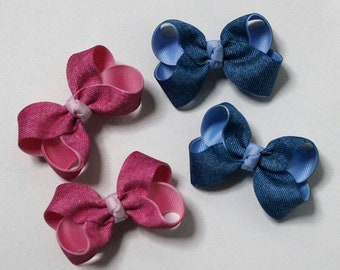 ribbon hair clip / infant headband /toddler headband / girls headband / ribbon bow headband