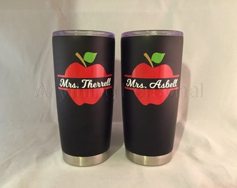 Personalized Stainless Steel Cup, Teacher Stainless Steel Tumbler, Teacher Cup, Teacher Gift, Beach Cup, Teacher Tumbler
