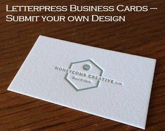 THICK Letterpress Business Cards   Submit Your Own Design