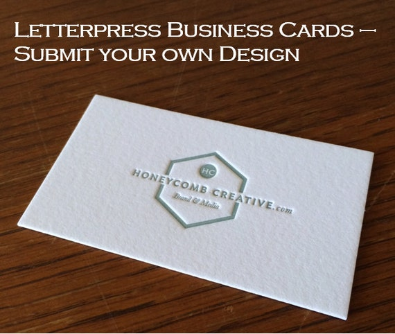 Letterpress business cards submit your own design reheart Gallery