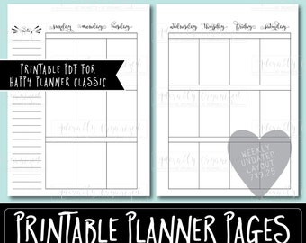 Happy Planner PRINTABLE Weekly Planner Refills / Inserts - 7 x 9.25 | Sunday Start | Create 365 | Me & My Big Ideas | mambi | Undated