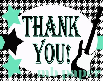 INSTANT DOWNLOAD Rock a Bye Thank you cards 4x5