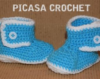 Crochet baby  boy/girl UGG booties 0-3 months/3-6 months