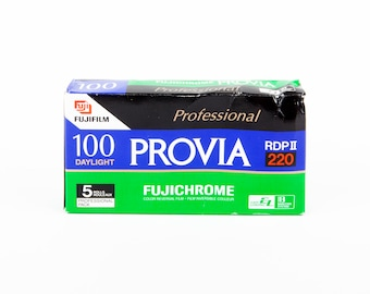 5 Rolls of FujiFilm Provia RDPIII 100 / 220 Medium Format Film