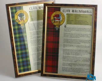 Framed Clan History Print