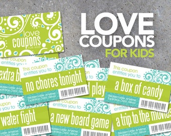 Easter Basket Filler! Love Coupons FOR KIDS – Printable Instant Download – Printable coupons for kids and young children – Reward Coupons