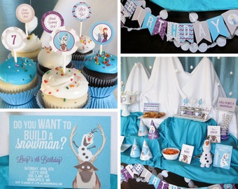 FROZEN Party Pack, Customized