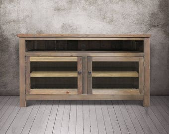 Media Console, Entertainment Console, Reclaimed Wood, Console Cabinet, TV  Stand, Rustic