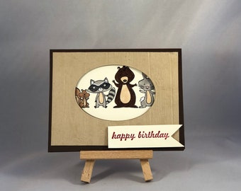 Furry Friends Birthday Wishes Greeting Card