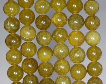 8mm Olive Peridot Gemstone Green Round Loose Beads 15.5 inch Full Strand (90111939-120)