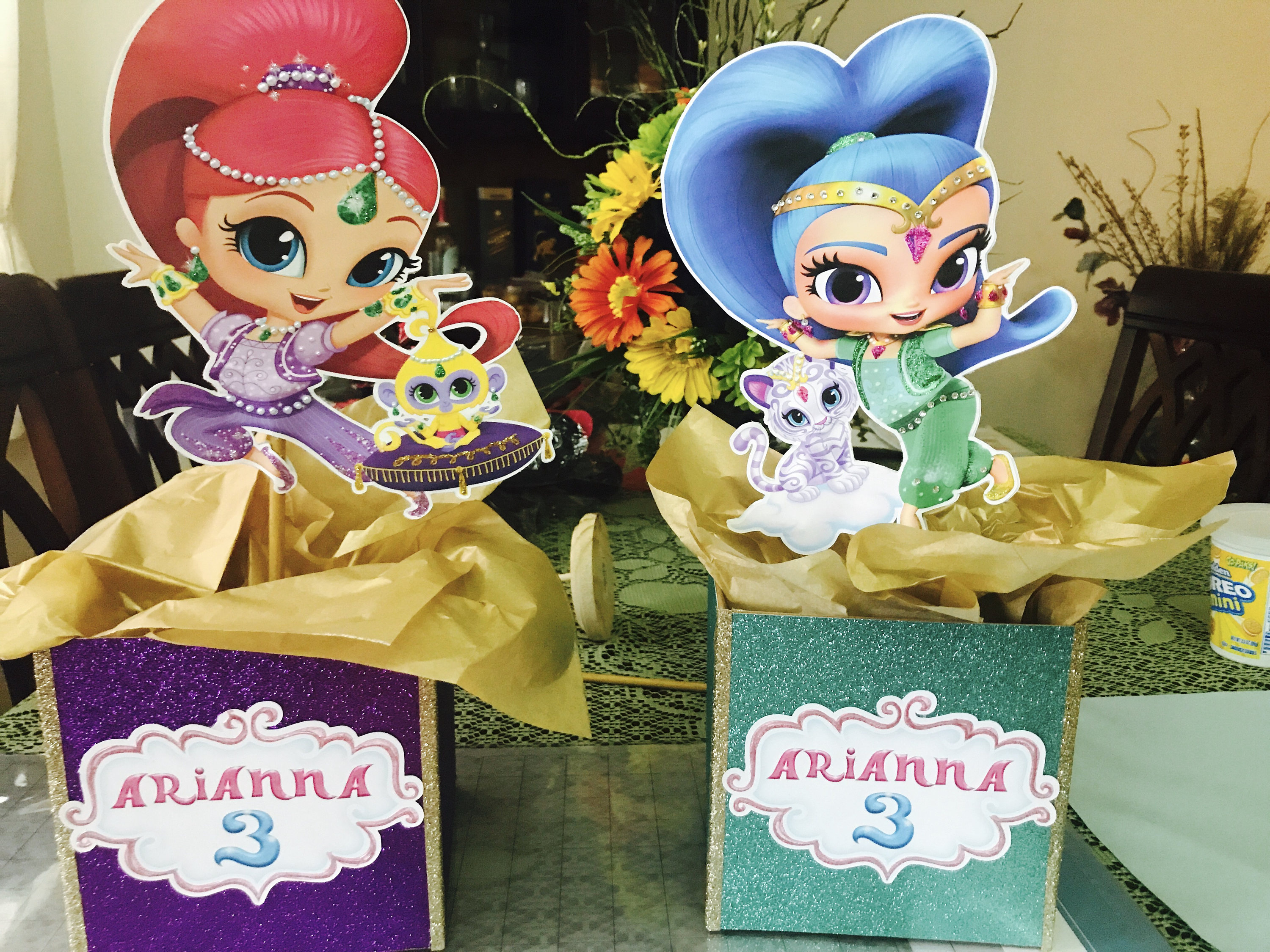 Shimmer and Shine-Girls Centerpieces-Party decor-Shimmer and