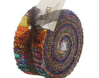 "Benartex - Kismet Pinwheels/Jelly Roll by Paula Nadelstern - 40, 2.5"" x 42"" Fabric Precut Strips"
