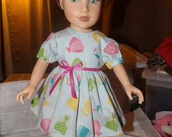 Princess print full dress for 18 inch Dolls - ag233