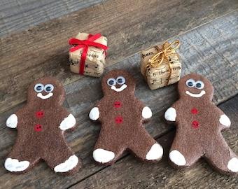 SALE Gingerbread Men Cookies Set of 3 Fake Food Photo Staging Prop