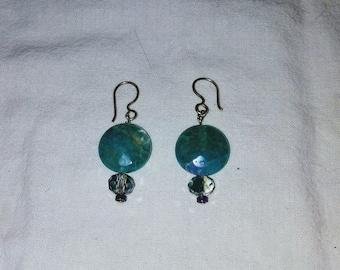 Crystal sterling Earring