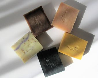 Organic Soap Bars, Save on 5 Soaps, Vegan Soap Bars, Cold Process Soaps, Gift Idea