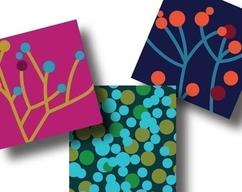Berry Tree 1 Inch Square Tiles, Digital Collage Sheet, Download and Print Jpeg Clip Art Images