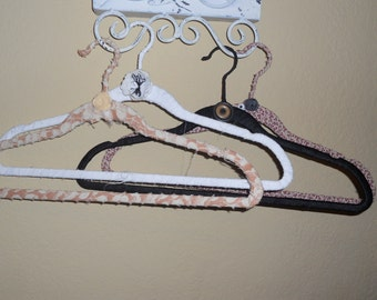 4 Fabric Wrapped Hangers
