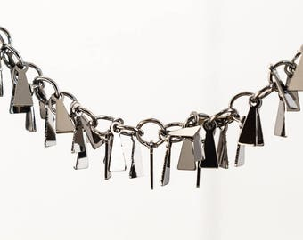 Gunmetal 8mm Dangle Triangle Chain #CC115