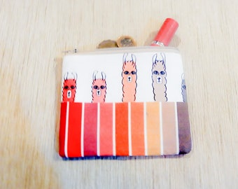 Llama Gift for Her/ Make Up Bag/ BFF Gift/ Bridesmaid Gift/ Birthday Gift/ Gift for Mom/ Wife Gift/ Pouch/ Girlfriend Gift/ Coworker Gift
