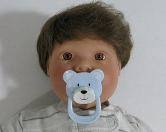Reborn Doll Magnetic Pacifier BLUE BEAR Pre-Made With Optional Extra Magnet + Putty OOAK