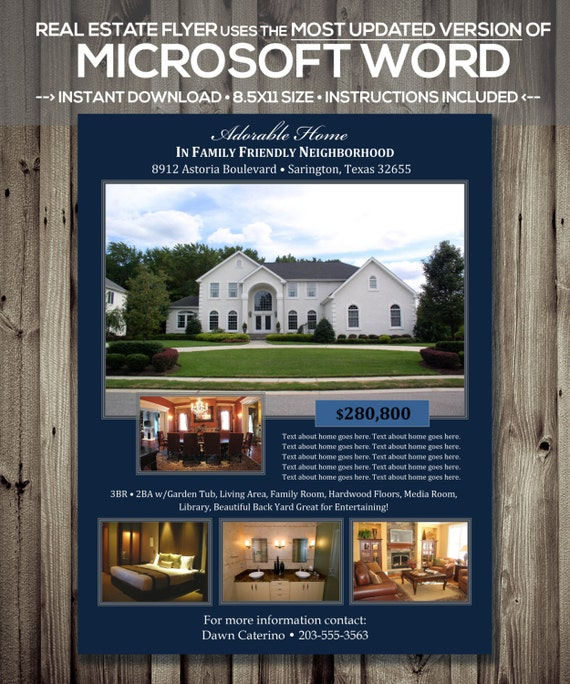 Microsoft Word Realtor Template Docx Version Home - Open house flyer template word
