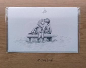 PACK FELICITACIÓN - 4 Postal de Felicitación - Ilustración de Fantasía - Pájaro - Dragón - Árbol Bonsai - Regalo