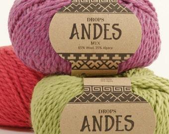 Chunky Alpaca yarn! Garnstudio DROPS design Andes - 35% alpaca 65 wool super chunky bulky - 100 grams