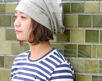100% Organic Cotton Baggy Winter Hat for Men and Women | Summer Beanie | Soft Comfy for Sensitive Skin Chemo Patients | Medical Use | bw-std