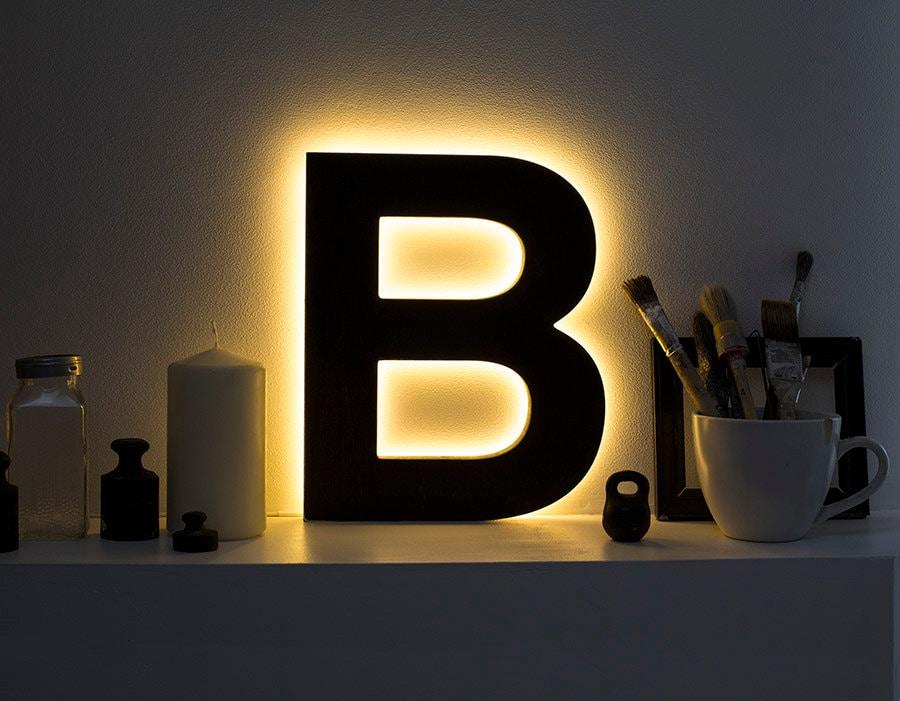 Lighted Wall Letters Mesmerizing Letter Light Led Light Up Letters Led Sign Night Lamp Design Inspiration