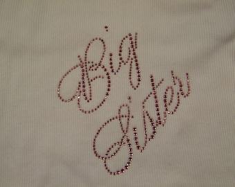 "Child  - Big Sister  ""Bling"" Shirt (Cursive)"