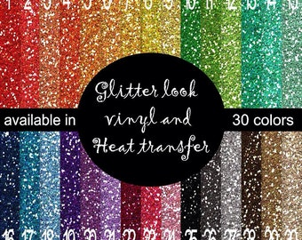 """Faux Glitter """"flitter"""" look printed indoor, outdoor decal VINYL or heat transfer vinyl HTV or applique FABRIC"""