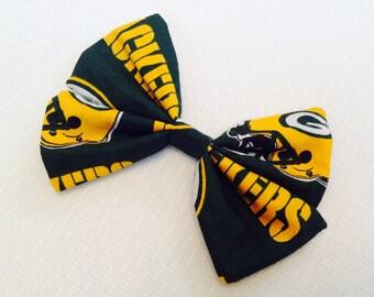 Green Bay Packers Football Hair Bow