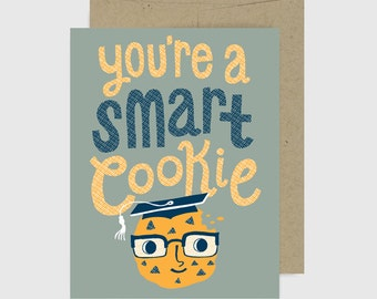 Congratulations Card - Graduation - Smart Cookie