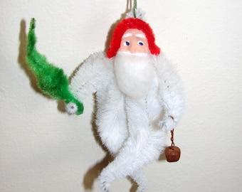 White Chenille Santa Claus Clay Face