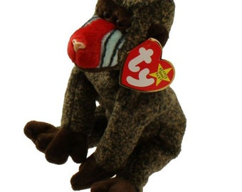 Vintage Beanie Baby: CHEEKS the Mandril/Baboon 1998 MINT Condition.