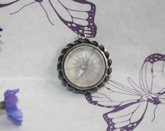 Lovely Antique Victorian Arts and Crafts Design Compass Fob