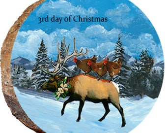3rd Day of Christmas Elk - DX215