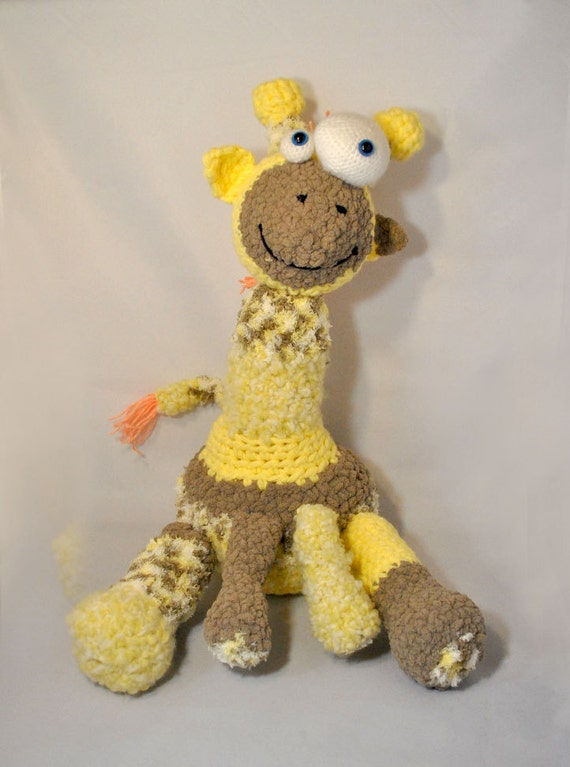 Crochet Pattern Plush Goofy Giraffe Amigurumi Zoo
