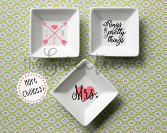 Ring Dish--Jewelry Dish--Trinket Dish--MORE DESIGNS!
