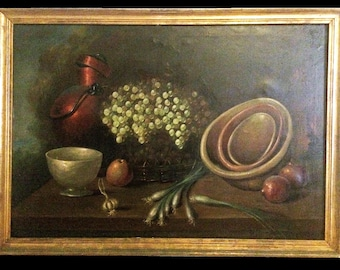 Antique Spanish Painting Late 19th Century-Early 20th Century