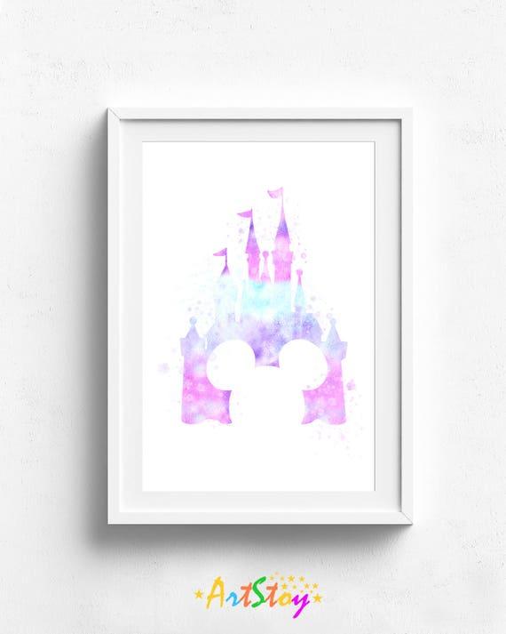 Disney-Schloss Druck Schloss Disney Disney-Plakat Disney