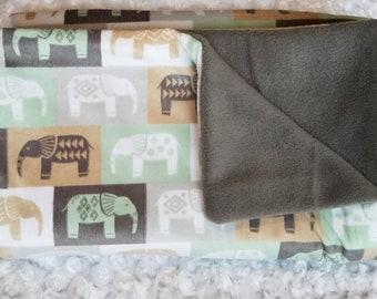 Elephant Baby Blanket, Baby Boy Blanket, Boy Nursery, Blanket, Baby Boy