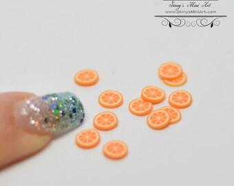 Dollhouse Miniature Set of 12 Orange Slices/ Miniature Food BD P017