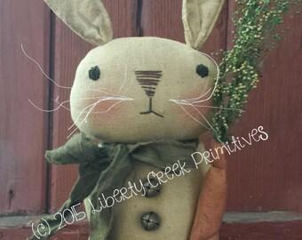 Primitive Easter Bunny Rabbit PATTERN Edgar Instant Download