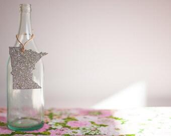 German Glass Glitter Minnesota Tags/Ornaments