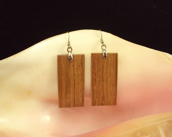 Wooden earrings - Jatoba Wood - Lightweight - Handmade earrings - All weather