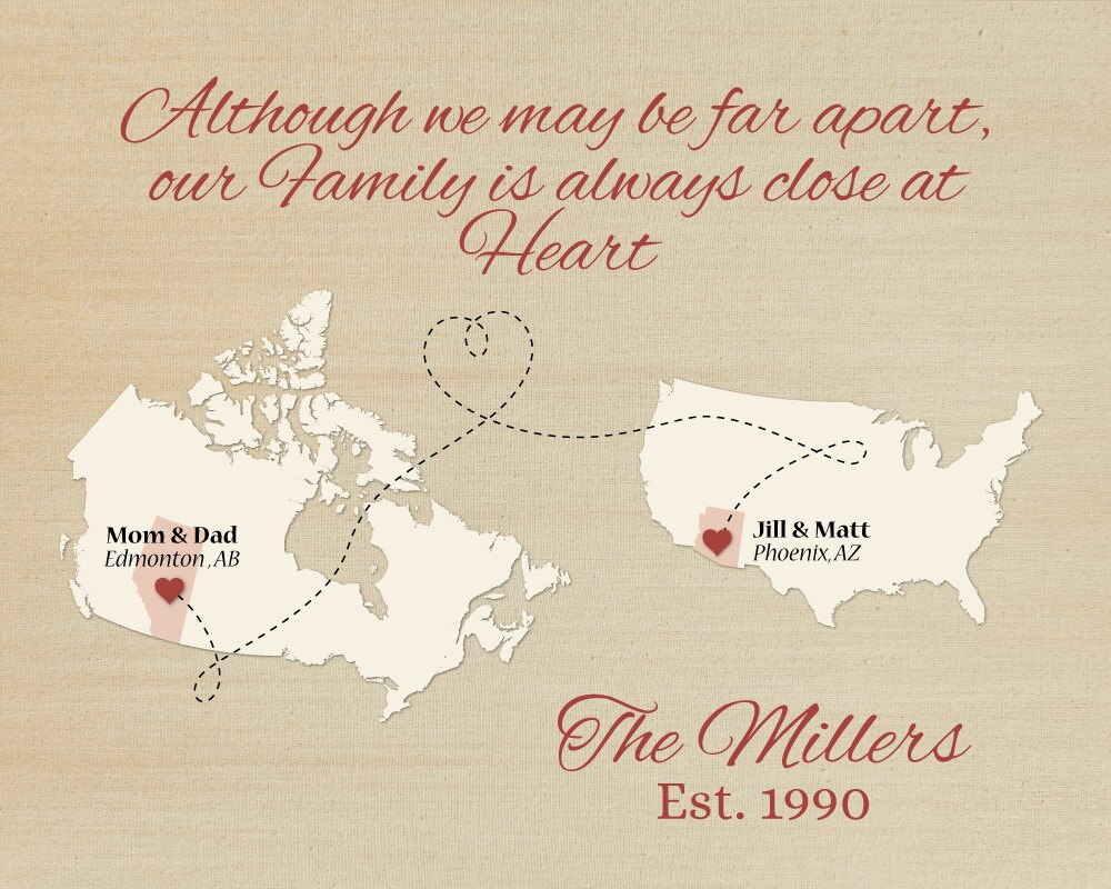 Moving Quote Personalized Gift For Family Long Distance Family Gift Idea