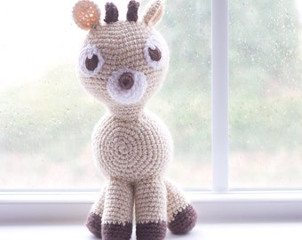 Fawn Stuffed Animal - Deer Plush- Deer Stuffed Animal - Fawn Plush - Choose Your Colors - Crochet Deer