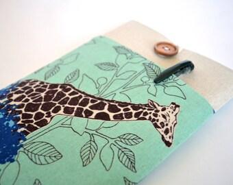 Giraffe iPad Case, Custom Tablet, iPad Mini Retina Sleeve, Galaxy Tab 3 7.0 or 8.0 Padded Cover - Savannah
